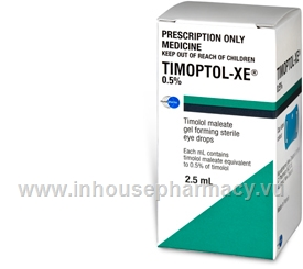 Timoptol XE 0.5% 2.5ml/Pack